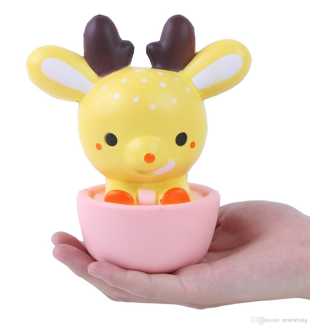 Squishy Toys Origin : 15CM Squishy Jumbo Kawaii Cup Deer Cream Scented Very Slow Rising Decompression Squeeze Toys For ...