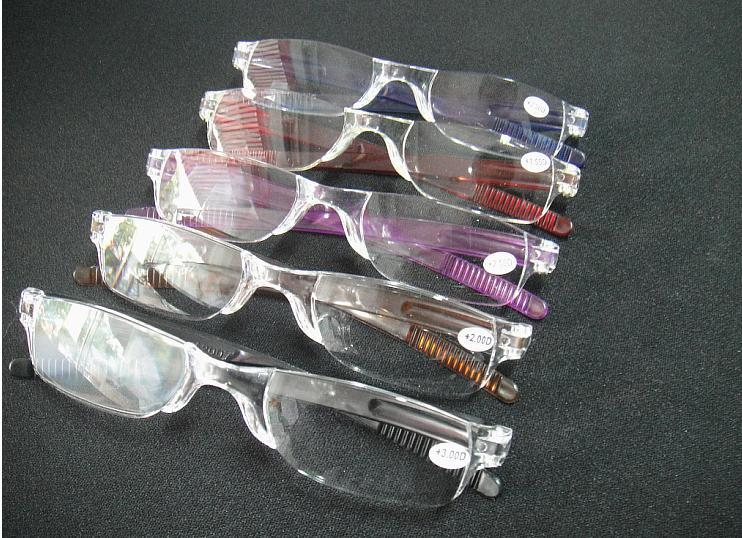 /  preiswerte Mannfrauen transparente klare Lesebrille, Plastik dünne Lesebrille viele Farben Stärkeenergie von +1.00 zu +4.00