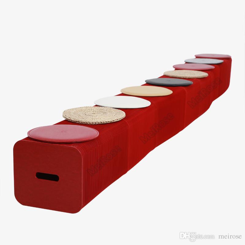 H30xL600cm Novel Innovation Furniture Pop-Smart Bench Indoor Universal Waterproof Accordion Style Foldable Kraft Sofa For 9 Seats 71-1008