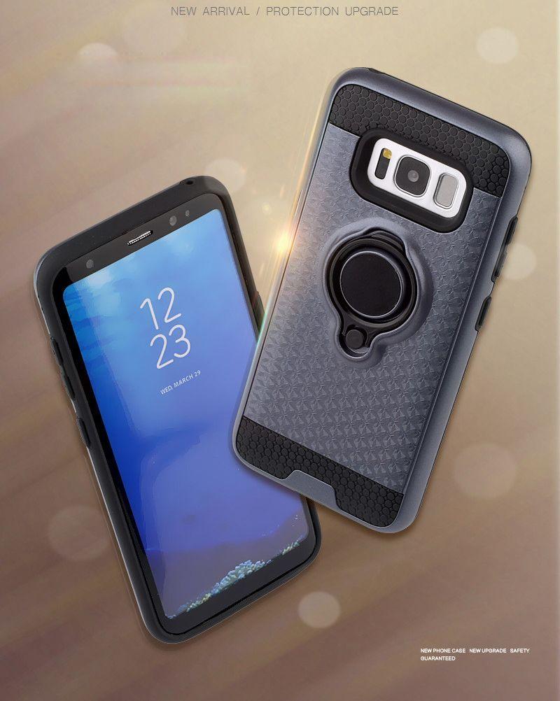 Hybrid Armor Case for Samsung Galaxy S7 Edge S8 Plus J7 J5 Prime ON5 ON7 2016 A5 J3 2017 Emerge / LG G6 K8 K10 2017 LV3 LV5 with Ring Holder