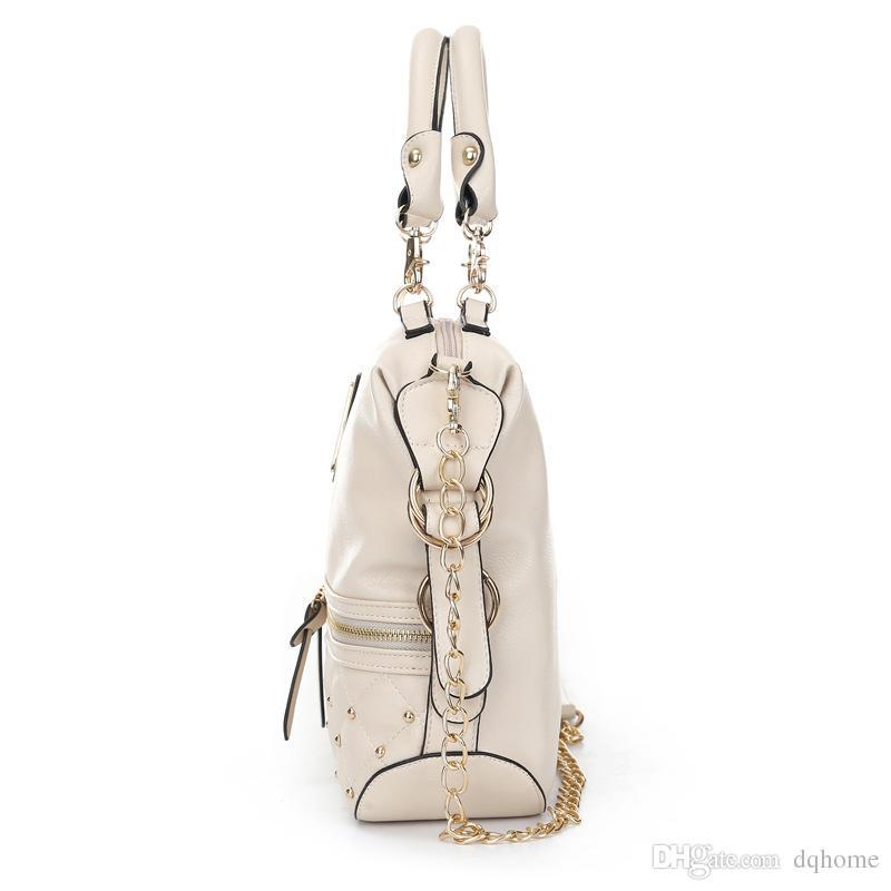 Kim Kardashian Kollection Shoulder Bag Designer Brand Bag Handbags Women Rivet Fashion Bucket Lingge rivet chain package Bags