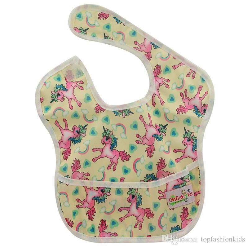 f44b17a7c Satın Al Bebek Önlükler Su Geçirmez Bandana Bebek Kız Erkek Önlükler ...