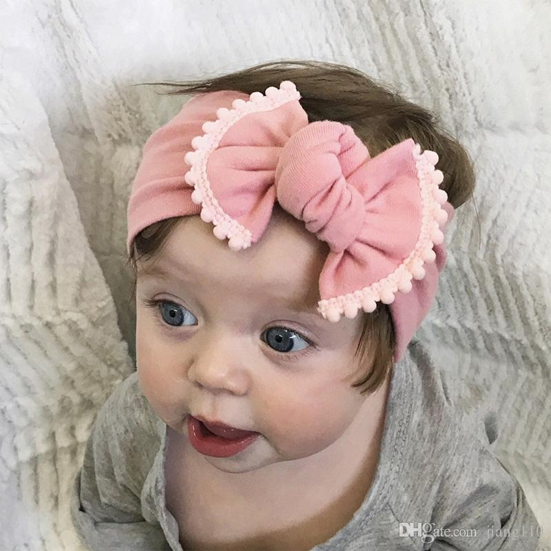 6d94ae8f9f3 Fashion Bowknot Baby Girl Bow Headband Baby Kid Hair Accessory For Children  Bow Tie Hair Bands Contrast Colors Elastic Headwrap Headdress Girls Hair ...