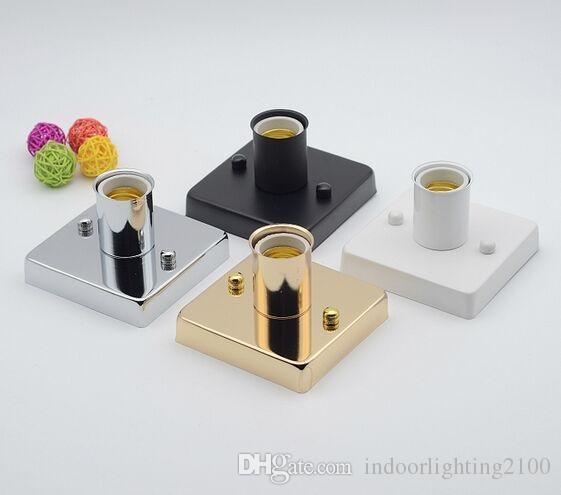 110V/220V H7cm.Base DIA10*10cm E27/86 Wire Box High Temperature Ceramic Screw Square Lamp Holders&Lamp Bases Lighting Accessories