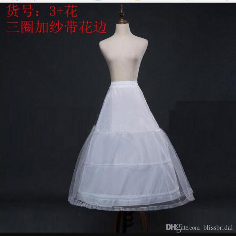 Горячая распродажа 3 круг обруч с кружевами Hemline Ball платье белые девочки петтиковы шариковины дети детское платье кость полная кринолина юбка