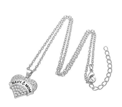 / freier Kristallherz-hängender Charme mit Wort-Marine-Mamma-Gliederketten-Halskette für Geschenke der Frauen