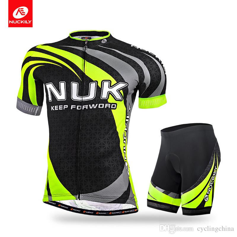 2d19e83f7 NUCKILY Men s Summer Anti-UV Bicycle Wear Short Sleeve Jersey And Cycling  Foam Pad Short Road Bike Set MA014MB014 Anti-UV Bicycle Wear Cycling Foam  Pad ...