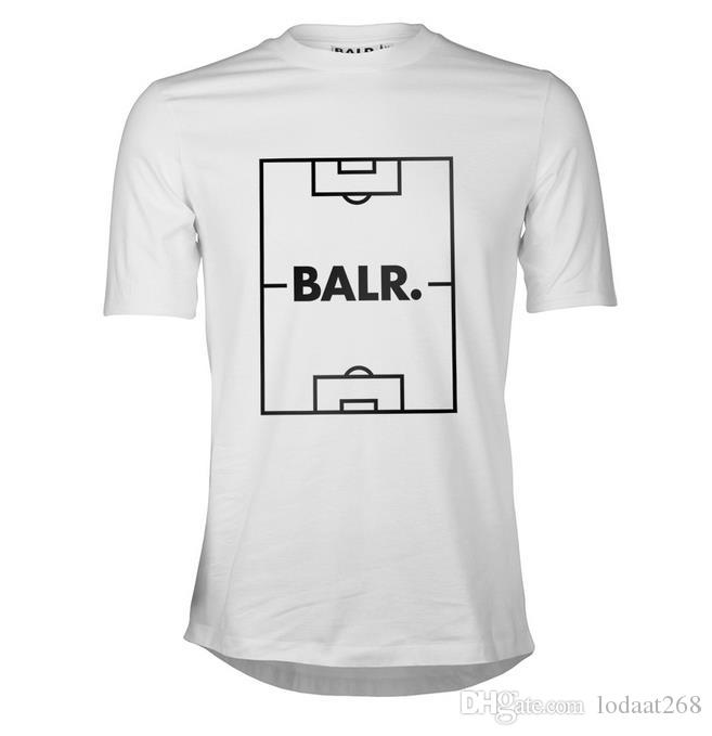 round edge football field European code T-shirt Balr Male short-sleeved round neck collar loose tidy summer new tide men's clothing