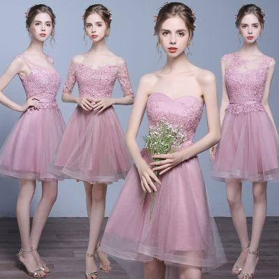 a07d6ea08aab 2017 new short paragraph small dress bridesmaid bridal skirt evening dress  sisters skirt thin banquet performance dress