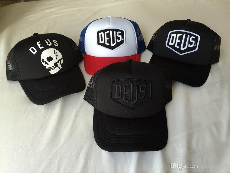 f10f14344ec Deus Ex Machina Baylands Trucker Snapback Caps Black MOTORCYCLES ...