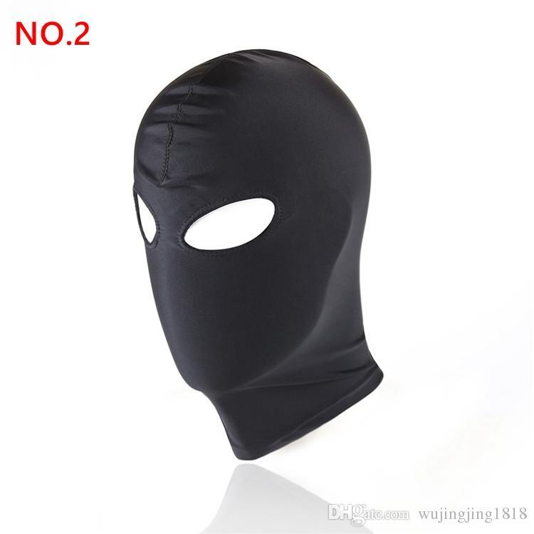 Nuovo arrivo Giochi adulti Fetish Hood Mask BDSM Bondage Black Spandex Mask Sex Toys For Couples 4 Specifiche da scegliere
