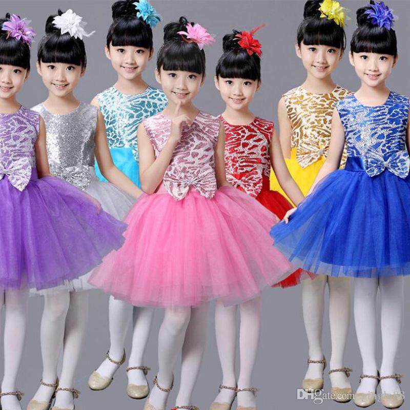 Compre Niños Vestido De Tutú De Ballet Niños Ropa De Rendimiento ...