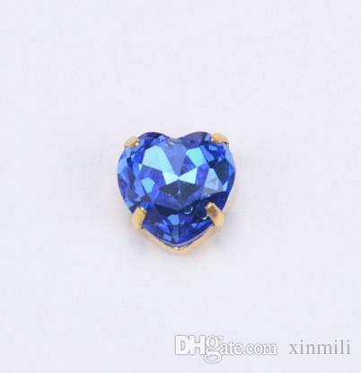 Factory new products! highest quality crystal stones 10mm heart shaped sew on beads for diy strass accessories