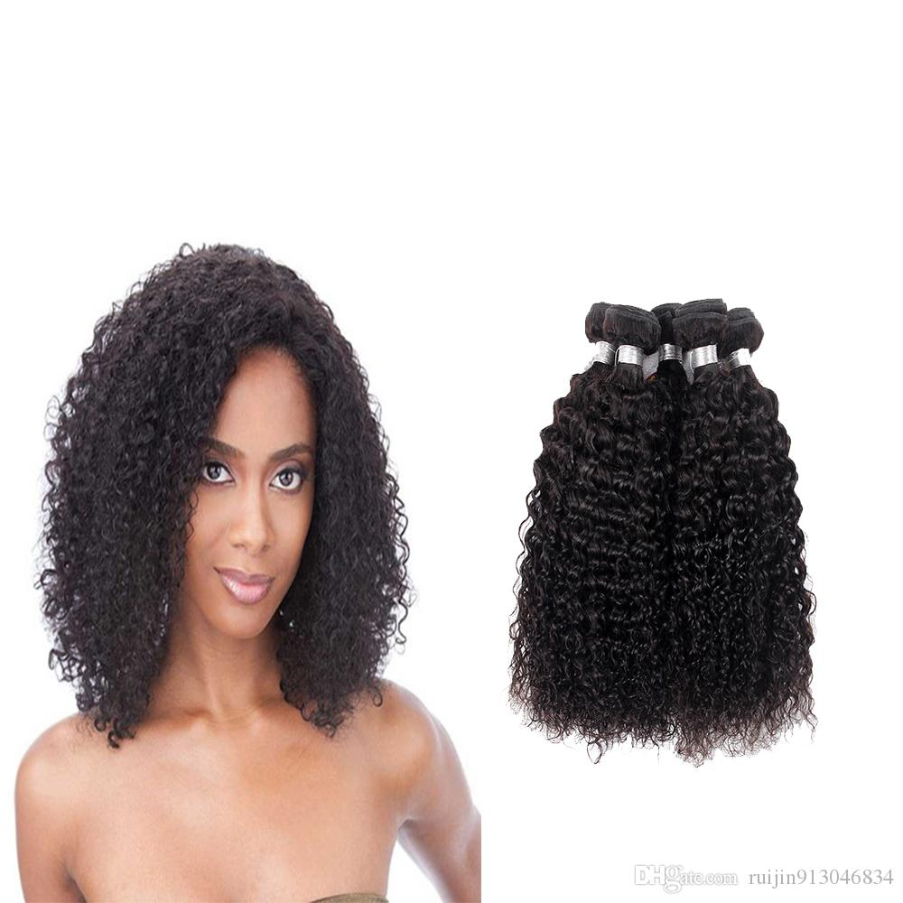 Brazilian Afro Kinky Curly Hair Bundles Remy Human Hair Weave 3 Or