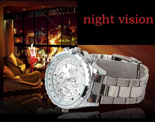 Quartz movement Mini Watch pinhole Cameras 8GB 16GB Full HD 1080P IR Night Vision watch Camera DVR watch Audio Voice Recorder watches DVR