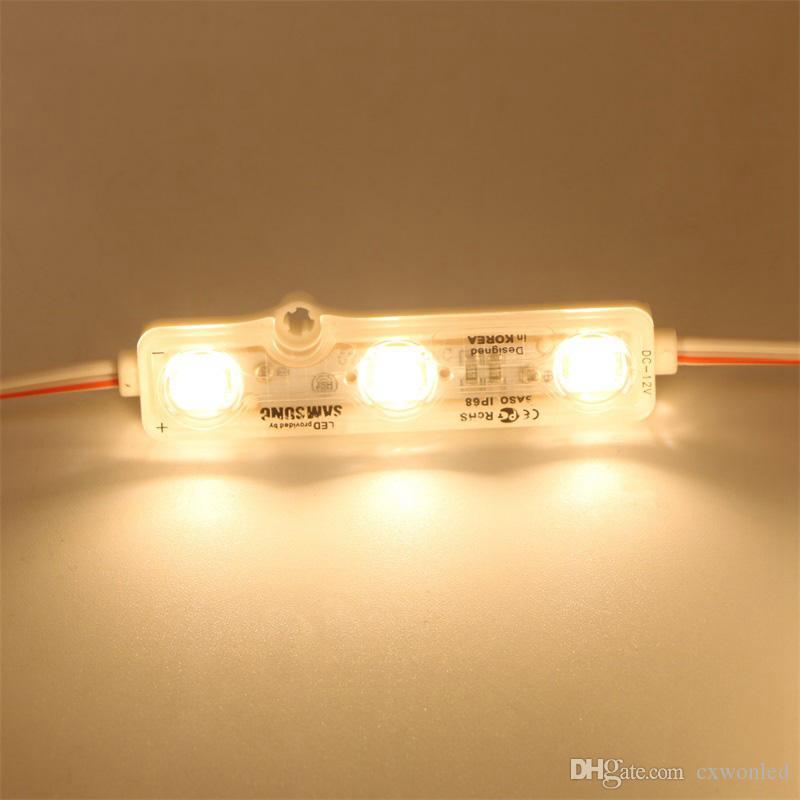 حقن IP68 LED وحدة 5630 1.5W 3LEDS تسجيل الإضاءة الخلفية للماء أحمر أبيض أزرق 12V 60LM كل الإعلانات الخفيفة الكثير