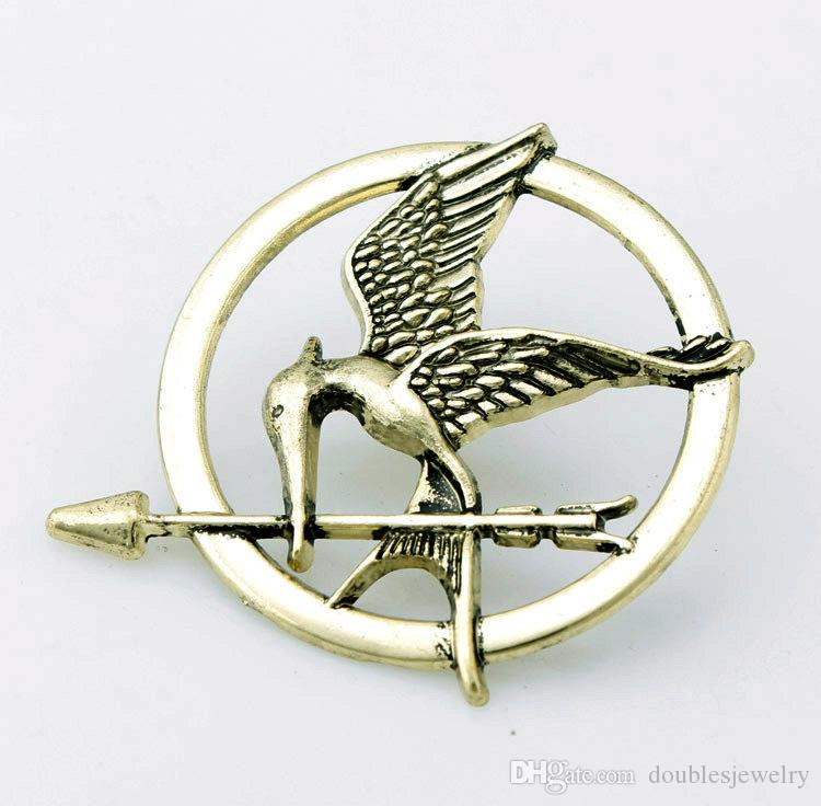 Die casting plate manufacturers wholesale European and American fashion hungry game seagull Bird Brooch foreign trade hot