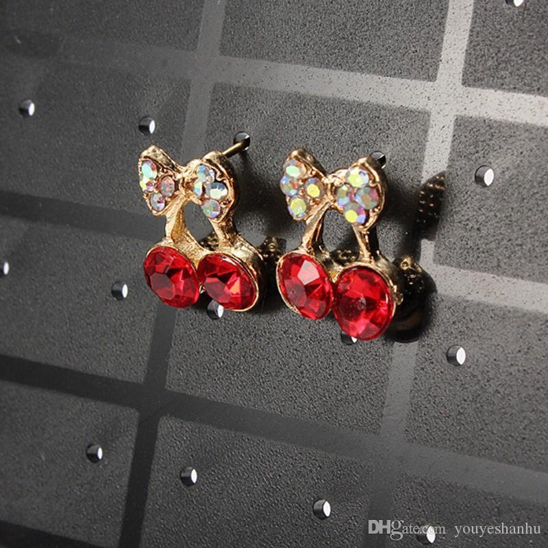 Art und Weise Ohrringe Ohrstecker Schmuckmesse Kunststoff Schmuck-Anzeigen-Rack Metall-Organisator-Halter Weihnachtsständer