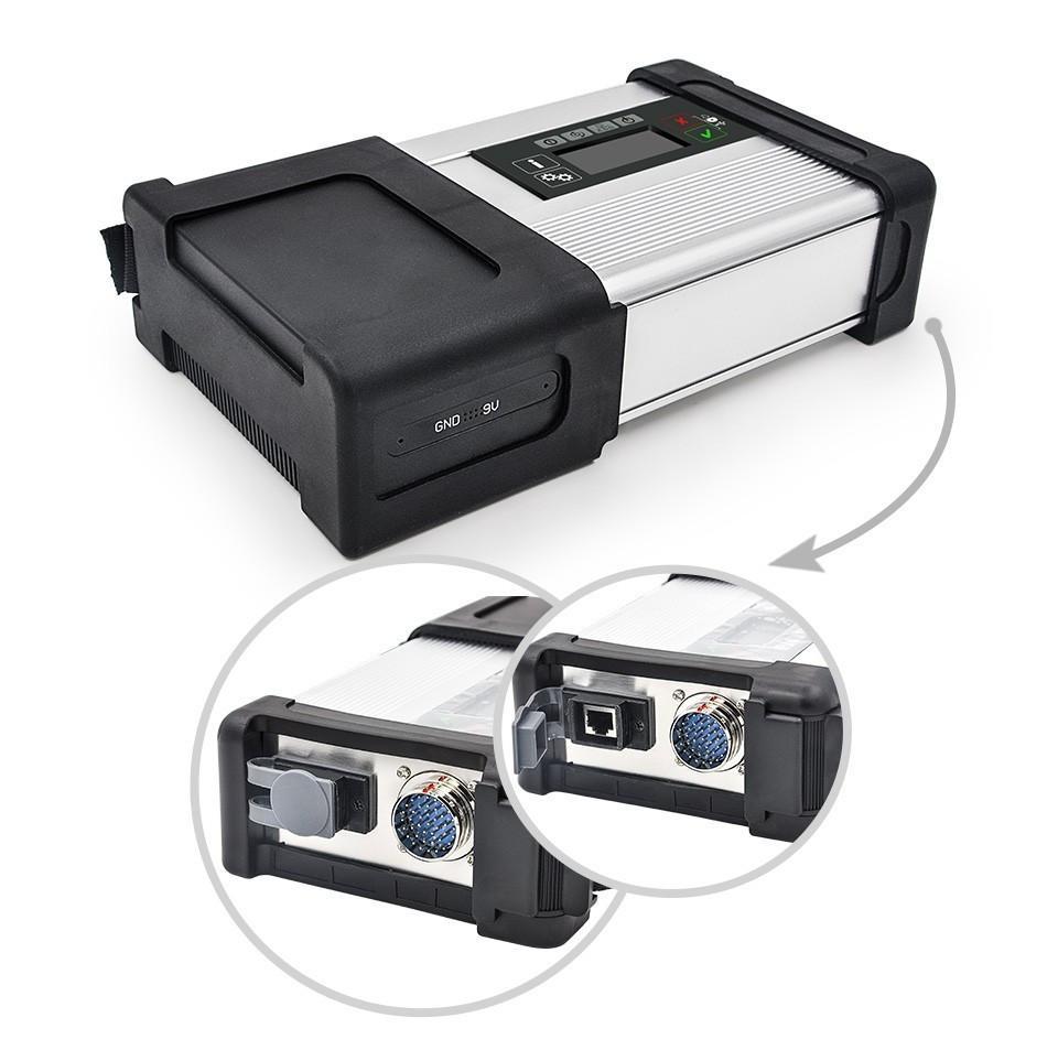 O MB SD conecta o diagnóstico da estrela do estojo compacto 5 com o WIFI para o sd c5 dos caminhões dos carros com o software CF19 do portátil de Toughbook do hdd pronto para uso