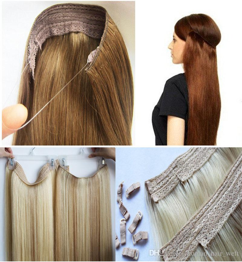 2018 flip in hair extensions halo hair extension 100g 16. Black Bedroom Furniture Sets. Home Design Ideas