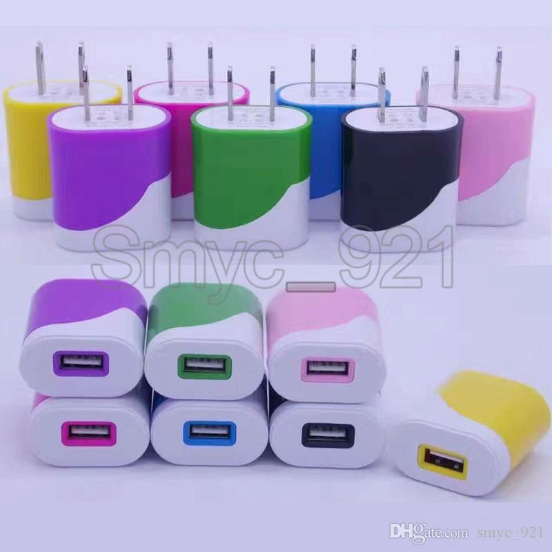 Caricabatterie da parete USB Caricabatterie da telefono portatile Adattatore CA 1A iphone 7 Samsung Galaxy S7 LG Xiaomi sony cell phone ipad