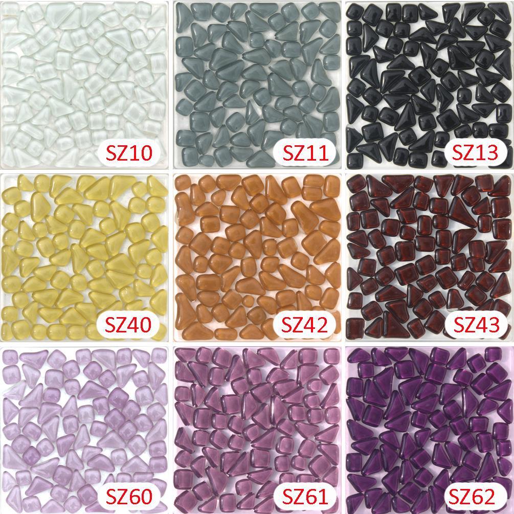 Großhandel 200g Kristallglas Free Stone Weiß Schwarz Lila Mosaik Tile_  Backsplash Küche Wandfliese Aufkleber Badezimmer Boden Füße Massage Fliese  Von ...