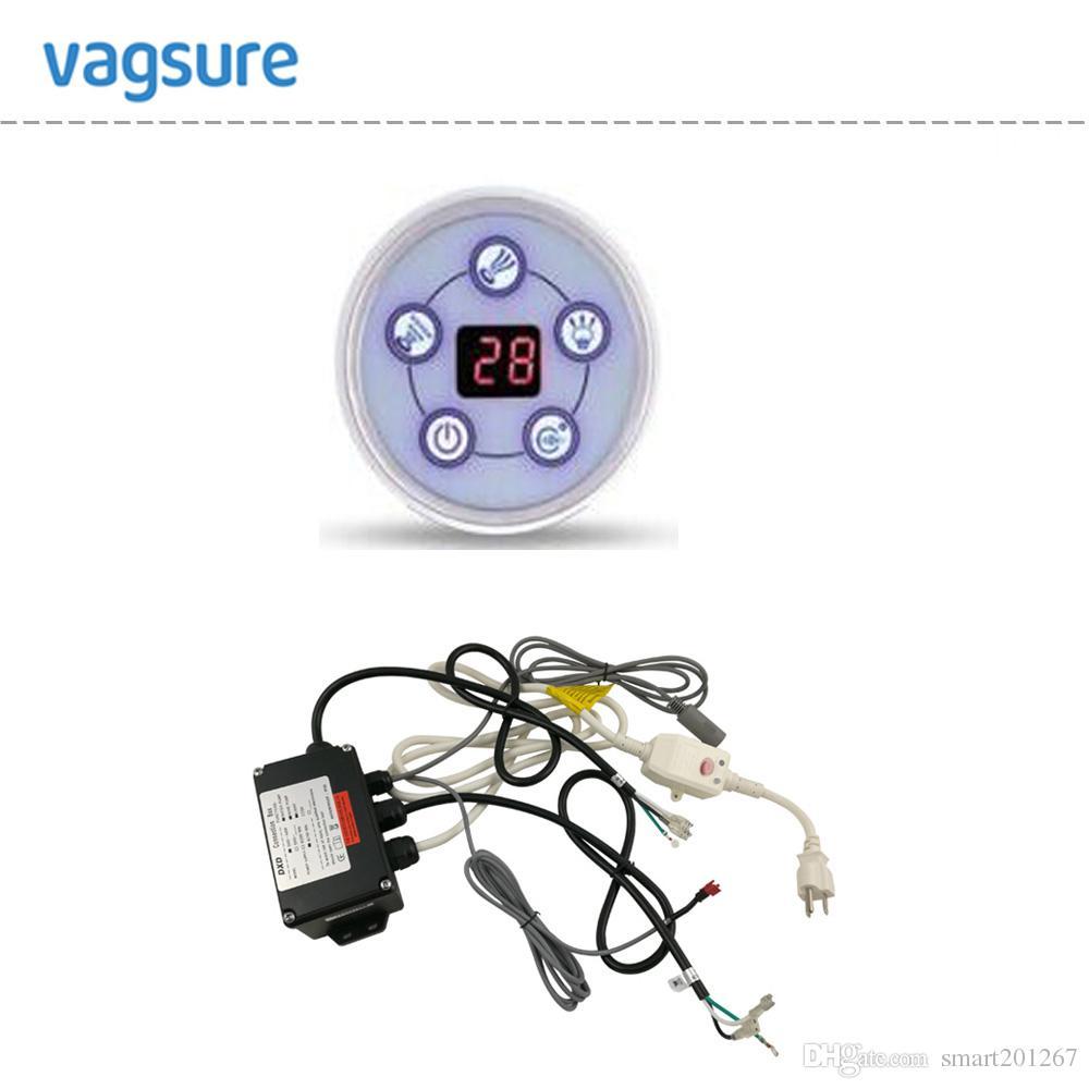 DXD-A006M pompa dell'acqua di mulinello di forma rotonda / controllo pompa a bolle d'aria, pannello di controllo pompa vasca idromassaggio con display LCD