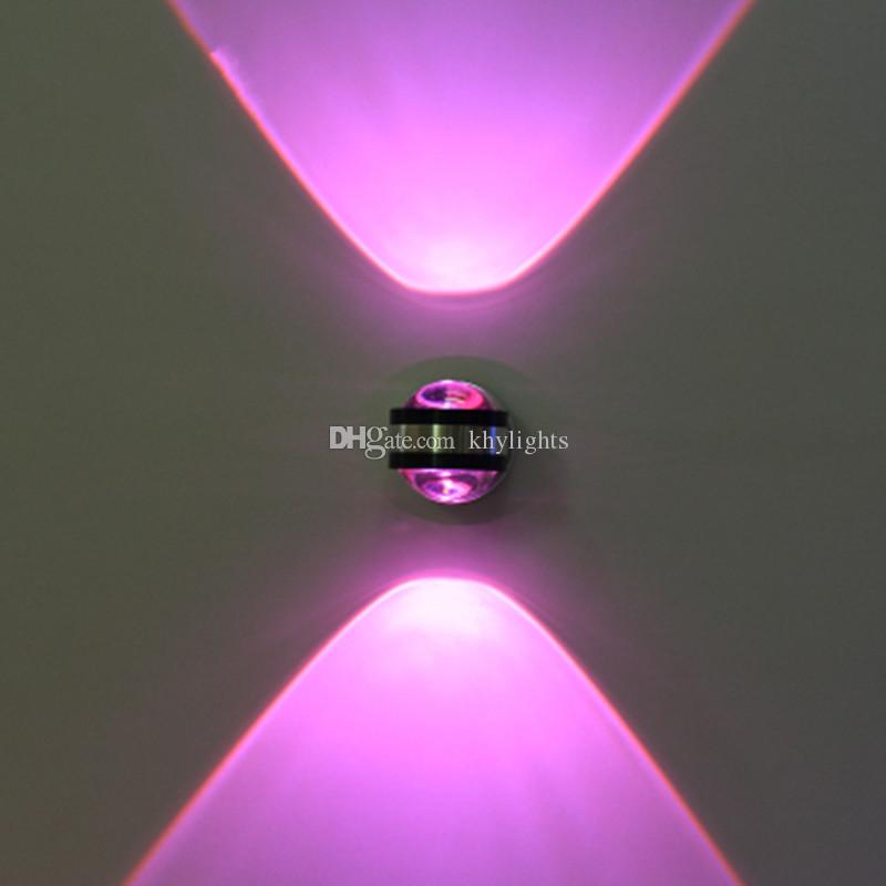 Modern Minimalist Wall Lamps 2W AC85V-265V LED Wall Sconce Light Up/Down Living Room Bedroom Bedside Lamp Aisle Wall Lamp