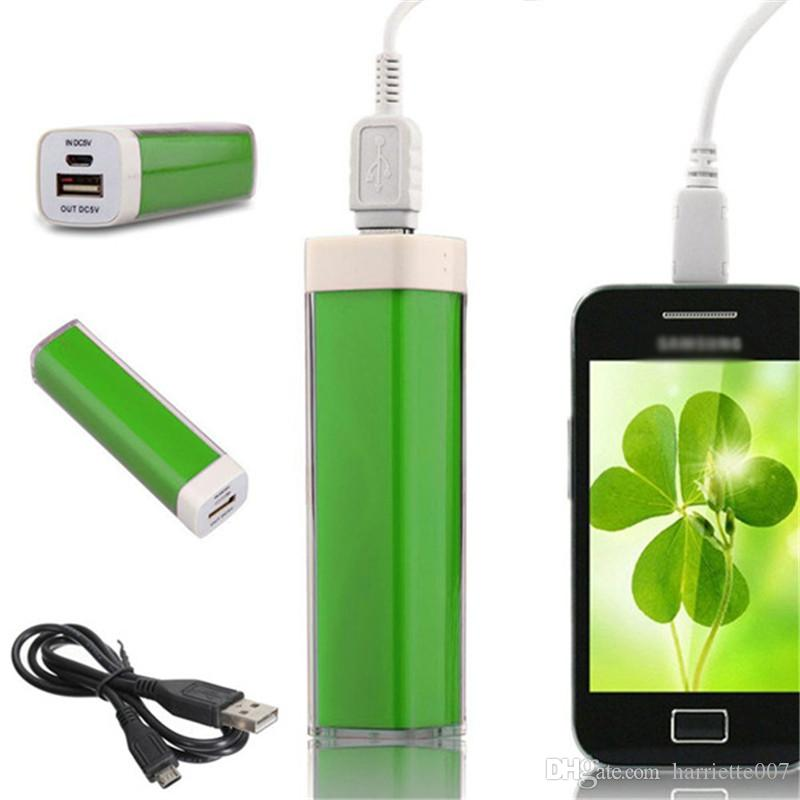 2600mAh mini lipstick Power Bank universal USB External Backup Battery for all mobile phone iPhone/samsung/htc ect cell phone