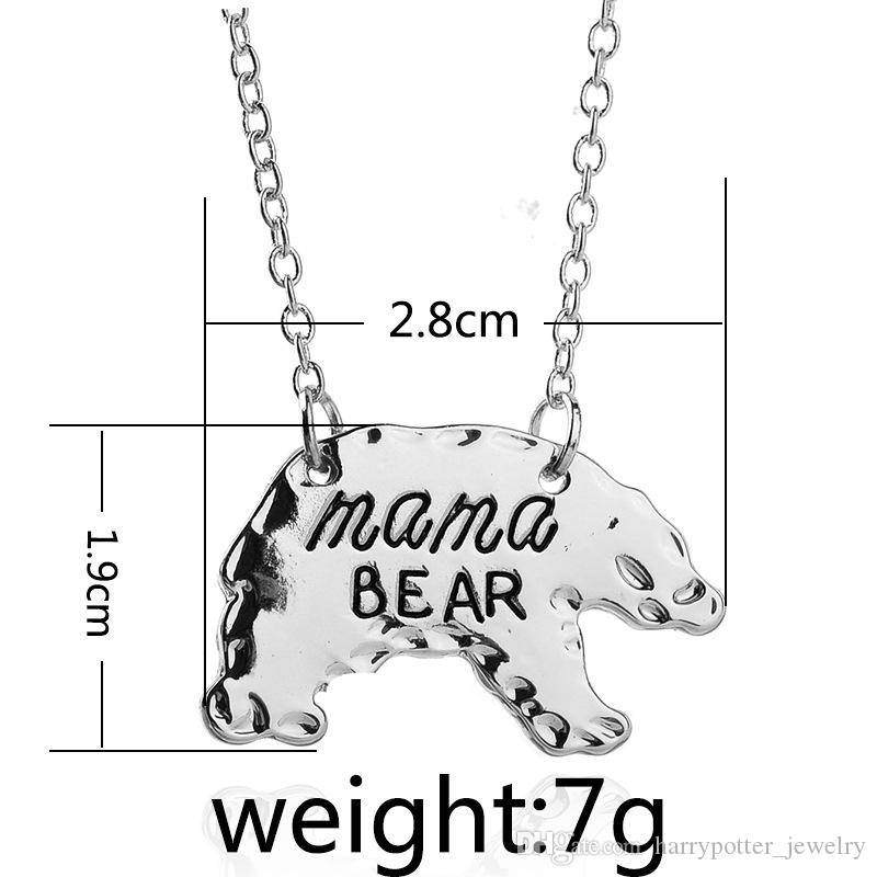 Personalized Mama Bear Polar bear necklace Animal Pendant Necklaces Mother Necklace Mothers Day Gift For Mom fasion jewelry Drop Ship 161893