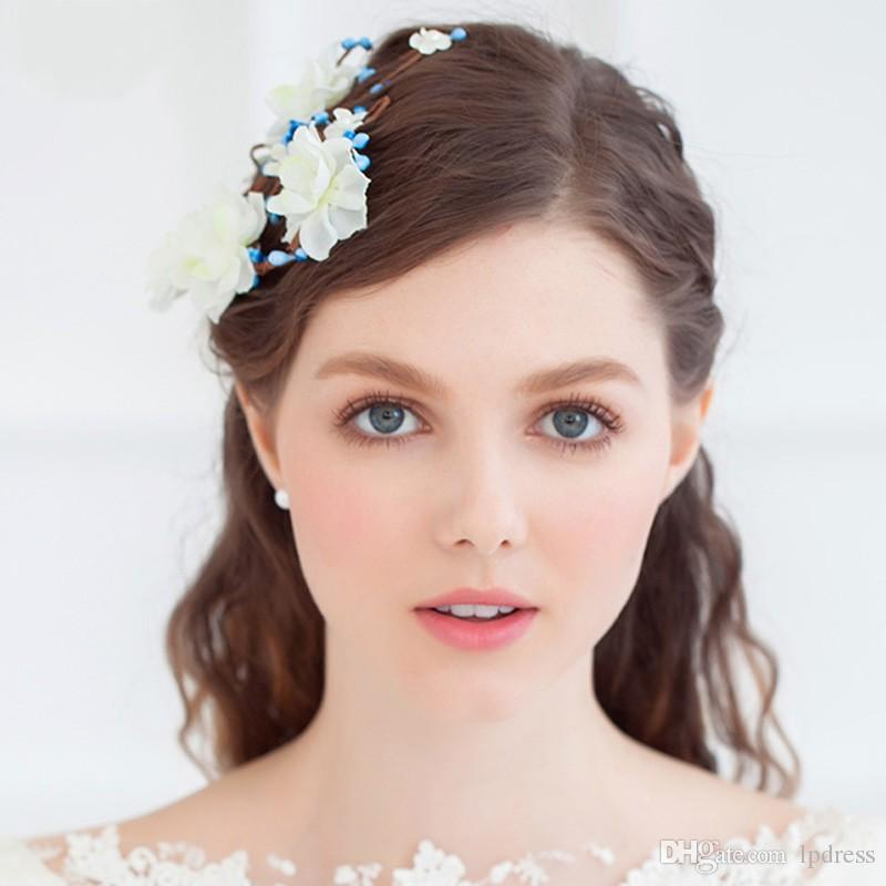 fairy bridal hair accessories flowers wedding accessories 2017 new arrival garden style cheap wedding hair accessories bridal hair headband bridal hair