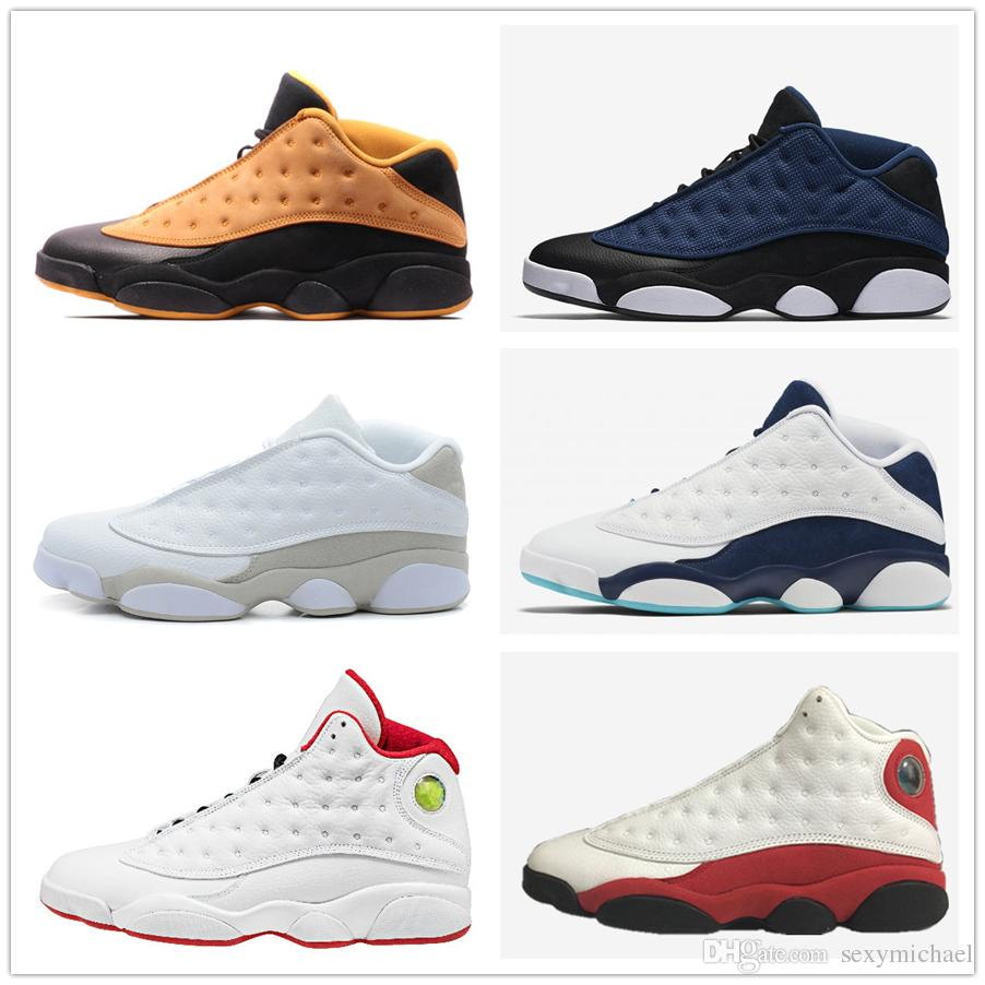 8264a1f670c 13s Classic 13 Low High Basketball Shoes Chicago Pure Money Play Brave Blue  HOF Bred Barons Hornets QUAI 54 Men Women Sports Shoes Online Jordans  Sneakers ...