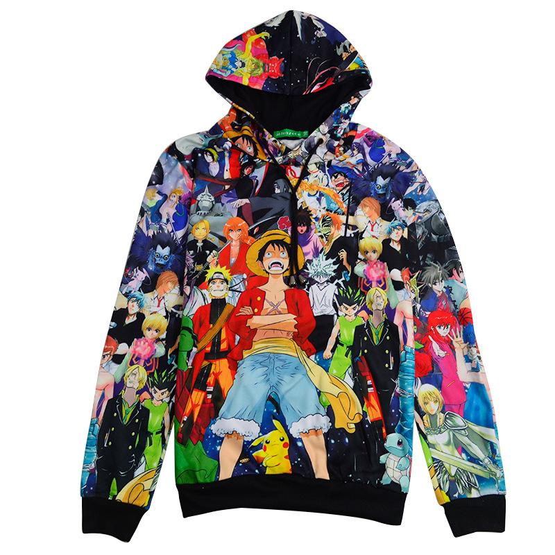 67e1d9f00a9 2019 Wholesale X Classic 3D Hoodies One Piece Cartoon Anime Printing Hooded  Pullovers Men Women Fall Winter Outerwear Clothes Sweatshirt From Cutee