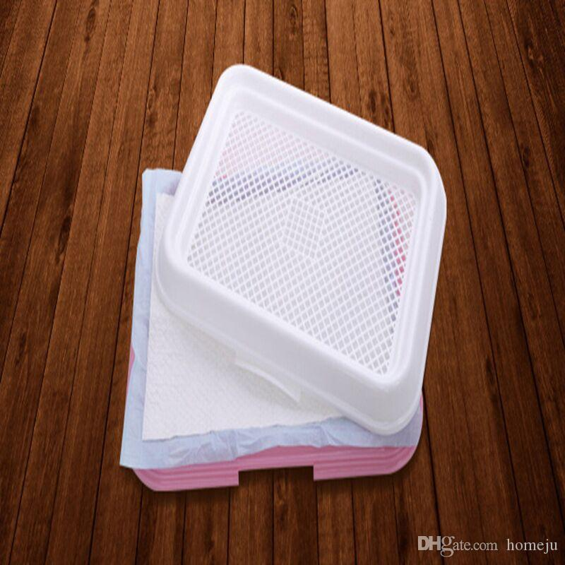 Pet Dog Mesh Pet Toilet Tray Cat Pad Interior Pet Potty Toilet Puppy Pee Training Clean Pot Envío gratis