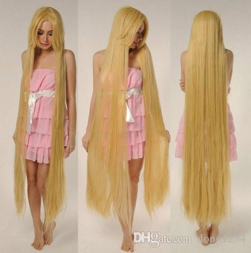 Synthetic Lace Front Wig+Cap≫≫Tangled Rapunze Super 150CM Long Wig Straight  Blonde Cosplay Wig Full Hair Wig Costume Wigs Black Hair Wigs From  Dong1234 f93772618