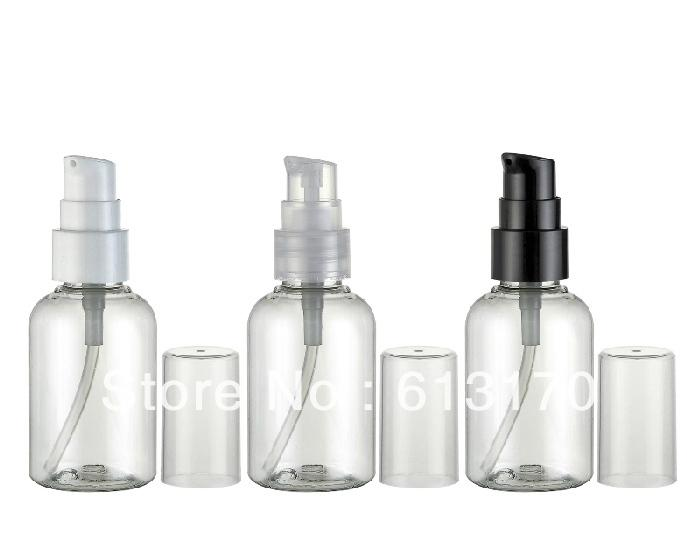 Free shipping 50ml empty pet lotion bottles pressure pump bottle for shampoo ravel refillable container wholesale/retail