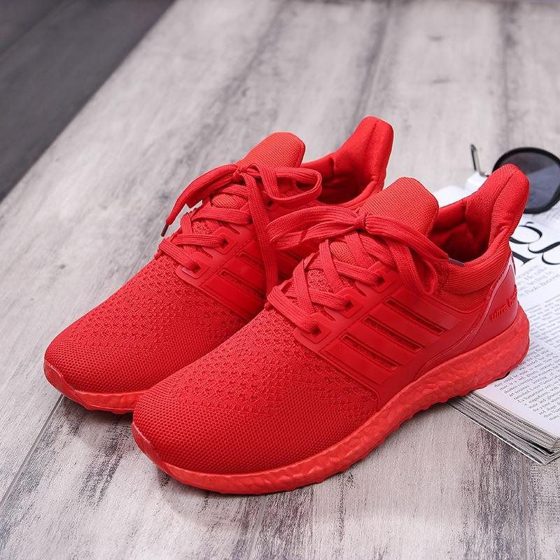dcfa7813678e Sell Pure Color Breathable Mesh Surface Running Shoes
