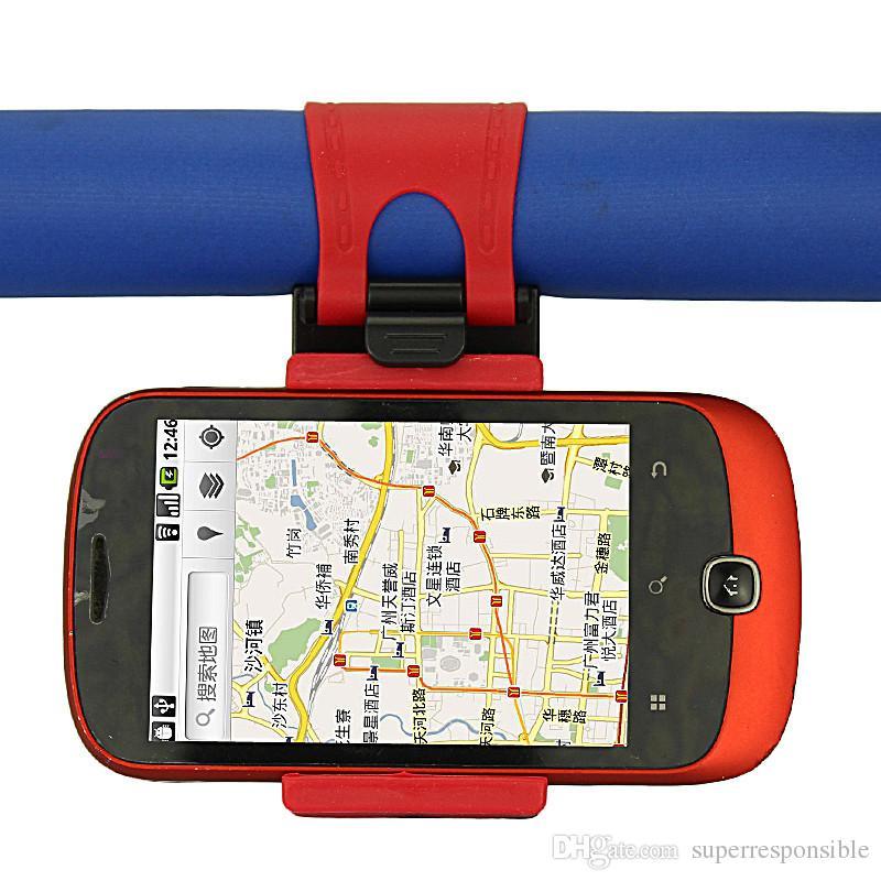 Universal Car Streeling Steering Wheel Cradle Holder SMART Clip Car Bike Mount for Mobile iphone samsung Cell Phone GPS Christmas Gift US07