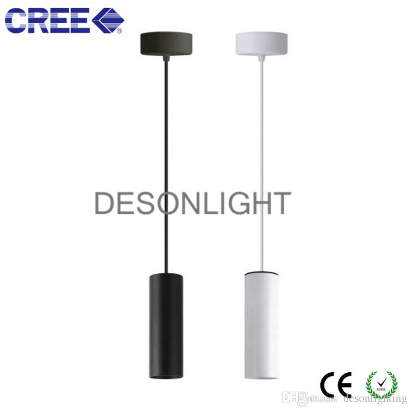 Discount Modern Cylinder Pendant Light Hanging Lamp Restaurant Kitchen Bar Counter Coffee Shop Pipe Led Pendant Lamp White Black Tube 12w 20w 30w Blue