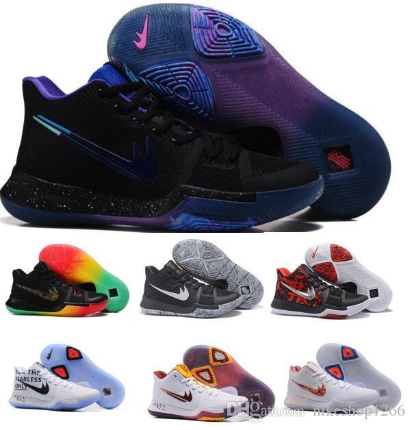 97d64c96be2b Basketball Shoes Kyrie 3 Women Men Black Gold Crossover Huarache Cavs Kyrie  Irving 3s Iii Basketball
