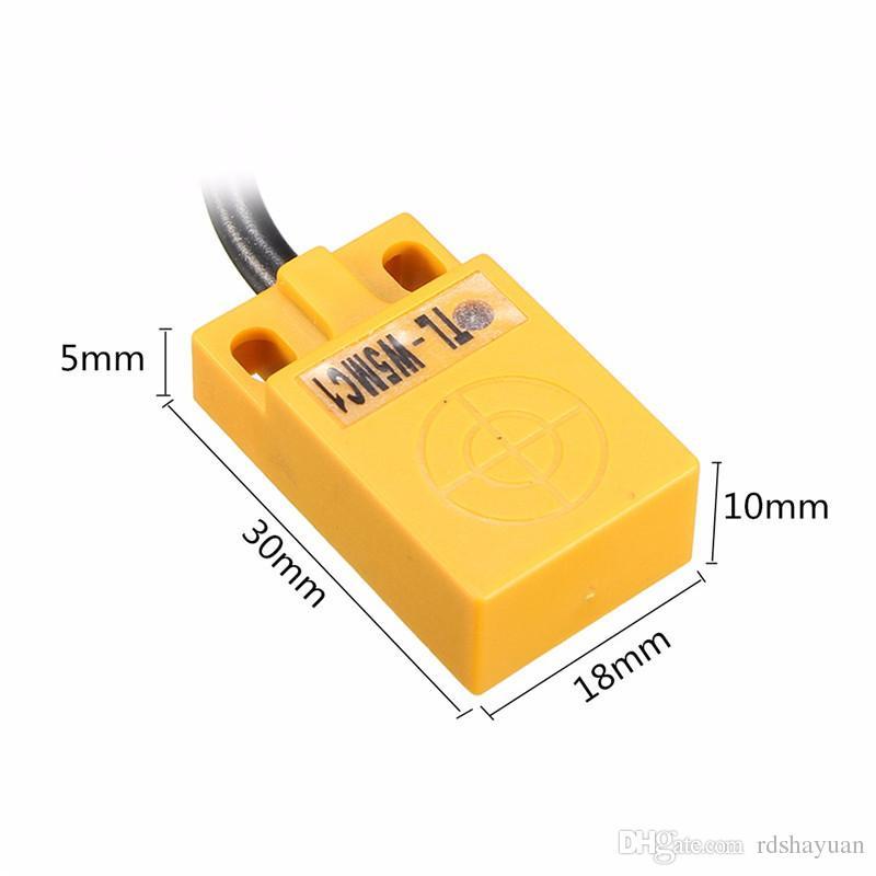 TL-W5MC1 Detector de Detección de Sensor de Proximidad Inductivo de 5mm 5mm Sensores NPN DC 6-36V 30x18x10mm