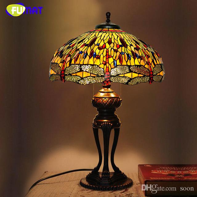 2018 Creative Tiffany Table Lamp Antique Dragonfly Living Room Table Lamp  Led Stained Glass Lamp Office Studio Stand Light From Soon, $661.11 |  Dhgate.Com