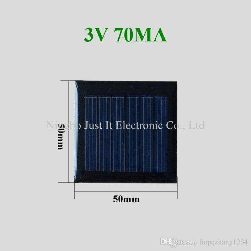 200pcs Epoxy Resin Mini Solar Panel 3V 70mA 50*50mm