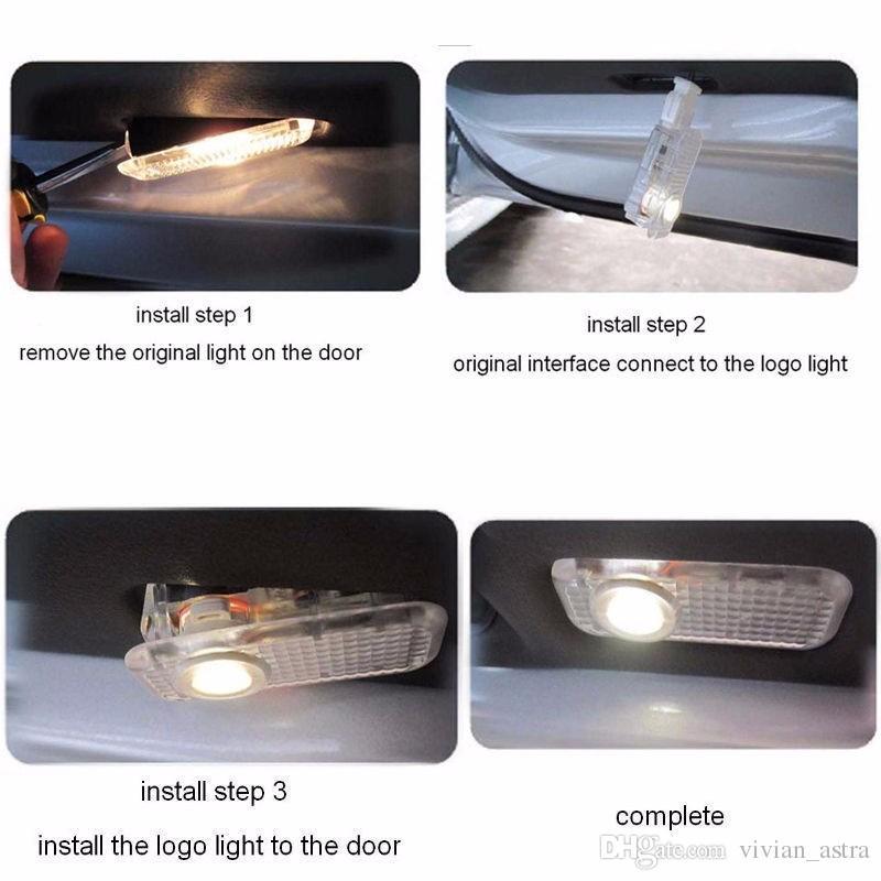 2X Coche LED Puerta Logo Bienvenido Lámpara Auto Laser Logo Proyector Luz Para Volkswagen VW Golf 4 Escarabajo Touran Caddy Bora Mk4 R línea