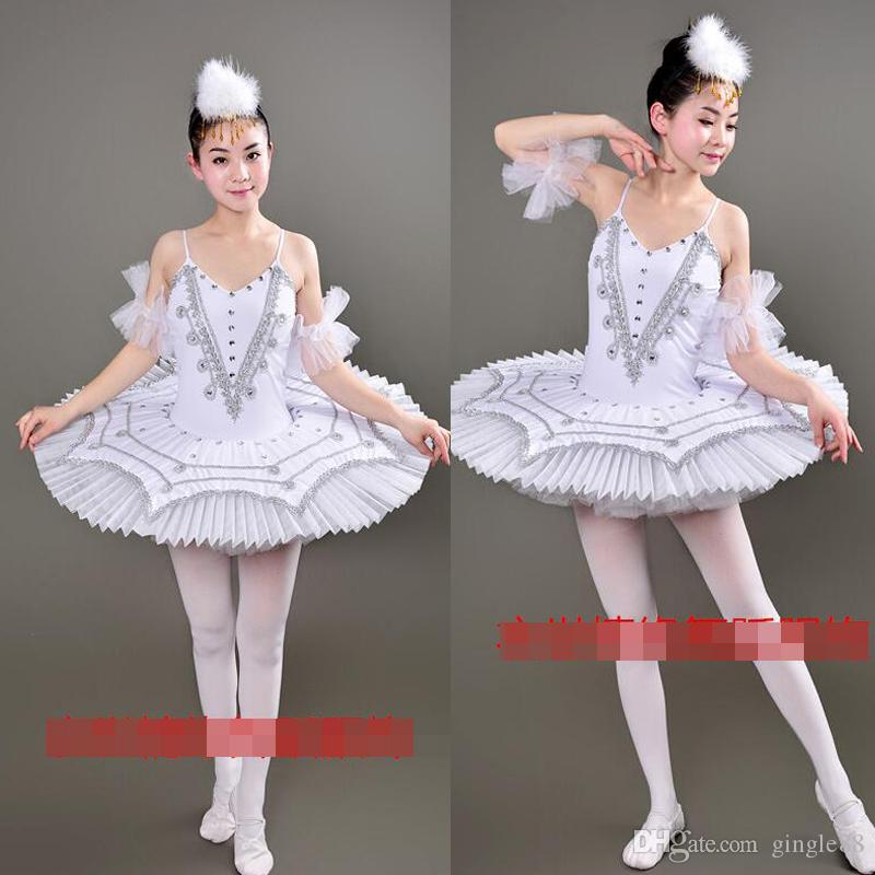 White Blue Swan Lake Ballet Costumes Adult Professional Platter Tutu Ballet Dress For Girls Women Classical Ballet Tutu Dancewear dress