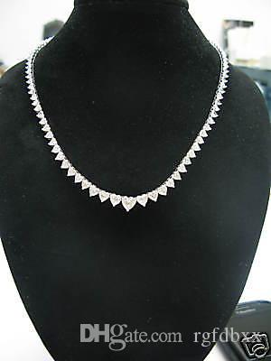 diamond vs white gold f g shiny si graduated tennis round link necklace cttw cut