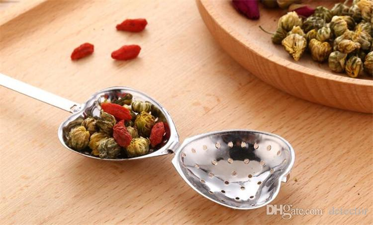 """""""Tea Time"""" Heart Tea Infuser Heart-Shaped Stainless Herbal Tea Infuser Spoon Filter Fast shipping"""