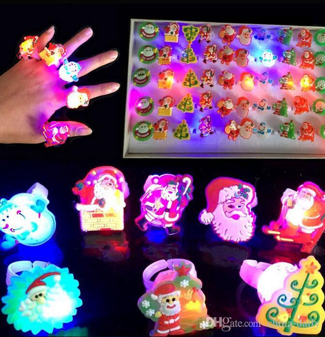diodo emissor de luz até o Flash Fruit Eyeball Pumpkim Pai Natal Bubble Star Elastic Anel Rave Partido Piscando macia Dedo presente Xmas Luzes
