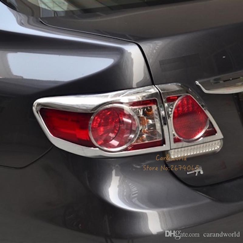 9f63a9db3121 2019 Car Covers For Toyota Corolla 2011 2012 2013 Rear Lights Cover Tail  Light Trim ABS Chrome Decoration Stickers Car Styling Accessories From  Carandworld