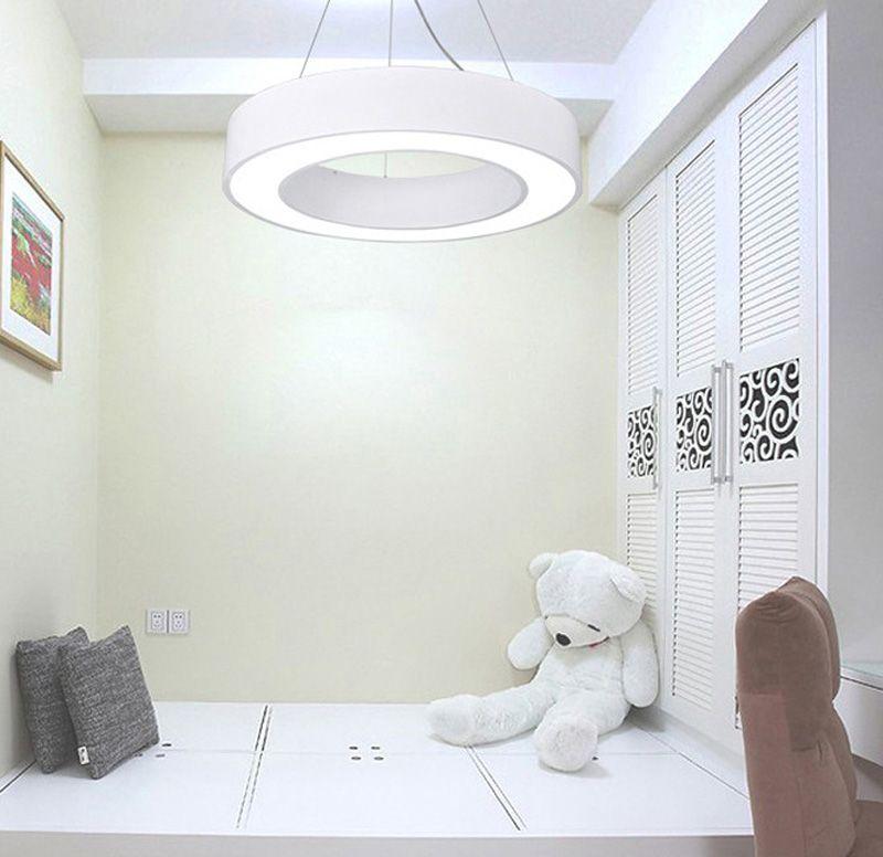 Office Lights Simple Lamp Circular Led Pendant Lighting Simplify Hollow Round Suspension Lights Led Lighting Diameter 40cm/ 60cm/ 80cm